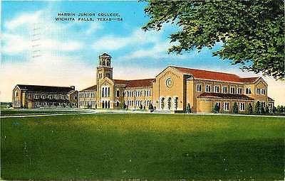Wichita Falls Texas TX 1940 Hardin Junior College Antique Vintage Postcard