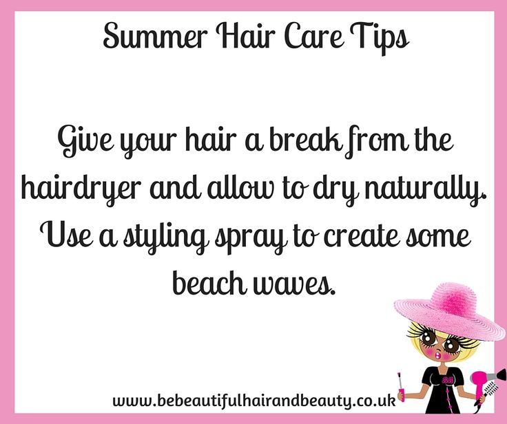 Summer Hair Care Tip #4
