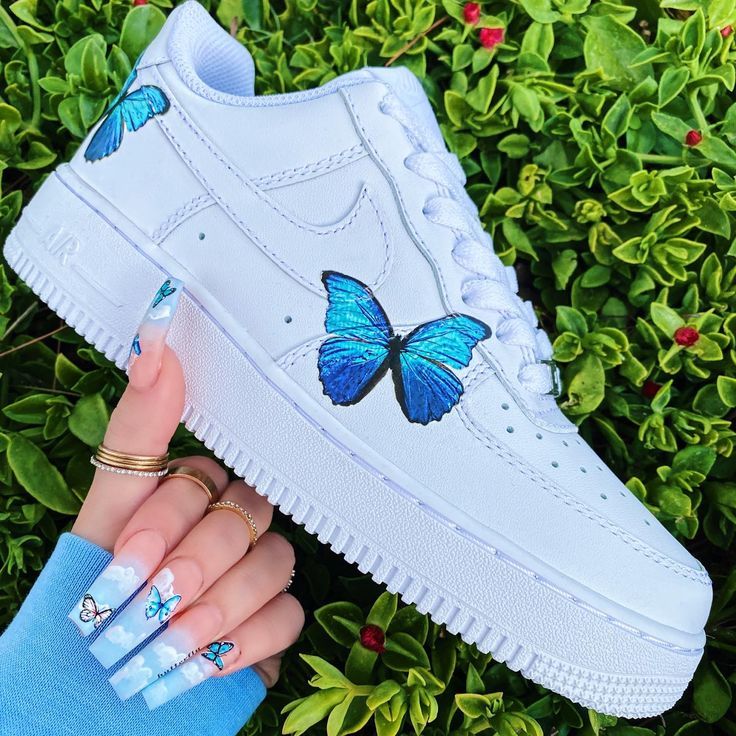 𝐤𝐚𝐜𝐭𝐮𝐬𝐤𝐚𝐭𝐭🧜🏼♀️ Nike shoes air force, Butterfly shoes