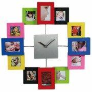 reloj-de-pared-de-aluminio-y-colores-con-12-porta-fotos