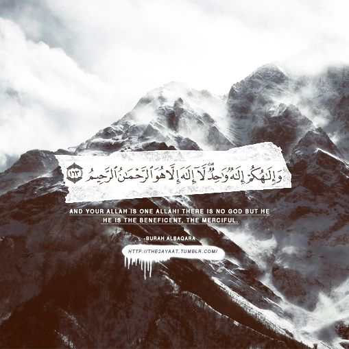 And your Allah is One Allah, there is no god but He, He is the Beneficent, the Merciful