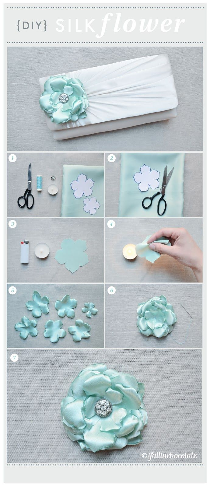 DIY SILK FLOWER TUTORIAL  www.ifallinchocolate.blogspot.it