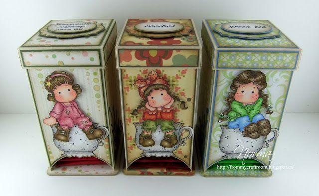 Tildas tea dispenser box. Link to the tutorial.
