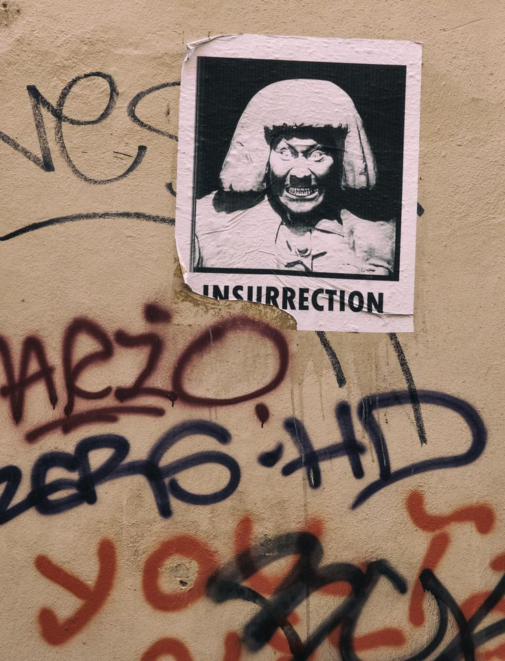 Looking for picture of Street art in Prague - Insurrection? Try my image and use it wherever you want! No attribution. No registration. CC0 license. Photo by Martin Vorel.