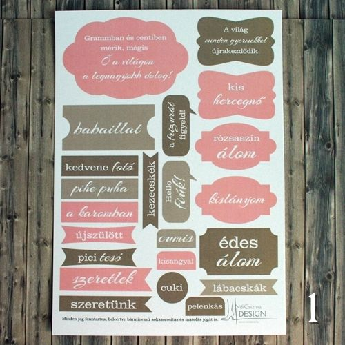 NőiCsizma | Lánybaba címkecsomag