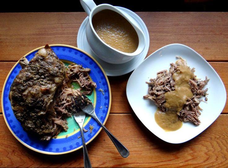 Slow Cooker Roast Pork with Onion Apple Gravy | Phoenix Helix