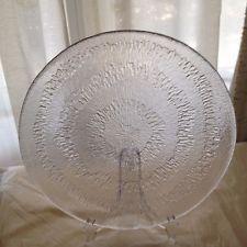 """Iittala 1970's Finnish Vintage Art Glass Platter Tapio Wirkkala Solaris 14"""""""