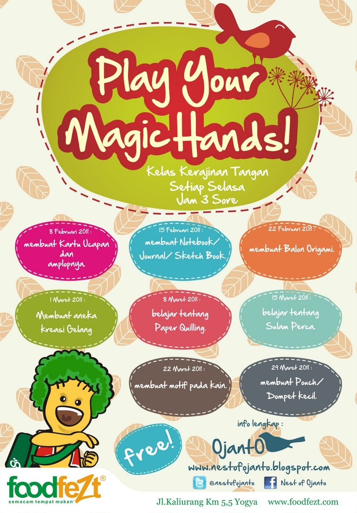 POSTER PLAY YOUR MAGIC HANDS - Nest of Ojanto craft workshop part 2