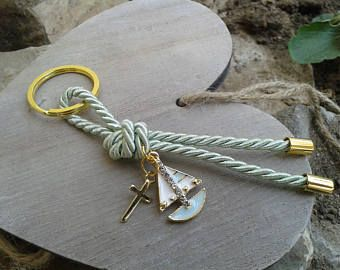 Classy martirika-nautical martyrika-Key chains Baptism Favors-elegant bomboniere-greek christening