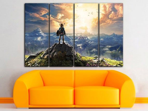 The Legend Of Zelda Canvas Zelda Decor Game Wall Art Video Game Art Playroom Canvas Zelda Canvas Kids Poster Kids Room Decor Girl Room Print Gaming Wall Art Girls Room Decor