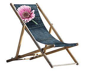 Sdraio pieghevole in legno e poliestere Dream - 59x151 cm