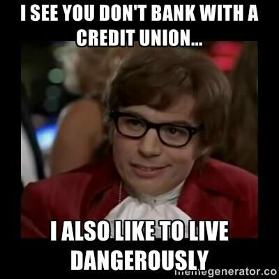 Credit unions?  They're better than sharks with laser beams attached to their heads!  (Thanks for the hilarious meme, Teachers FCU.)