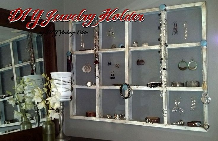 Homemade Jewelry holder idea.  love it.