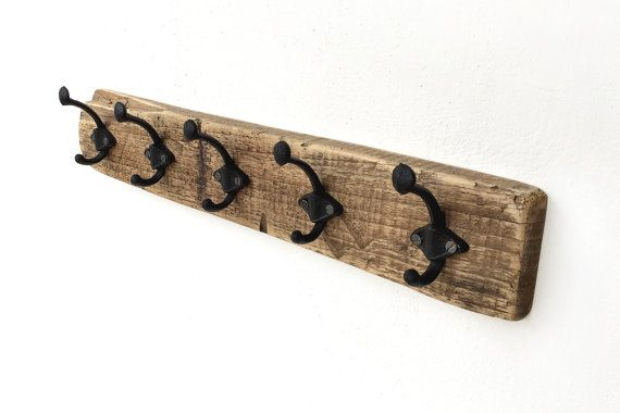 Wooden hanger  Wall coat rack  Coat rack hooks  School by BatLab