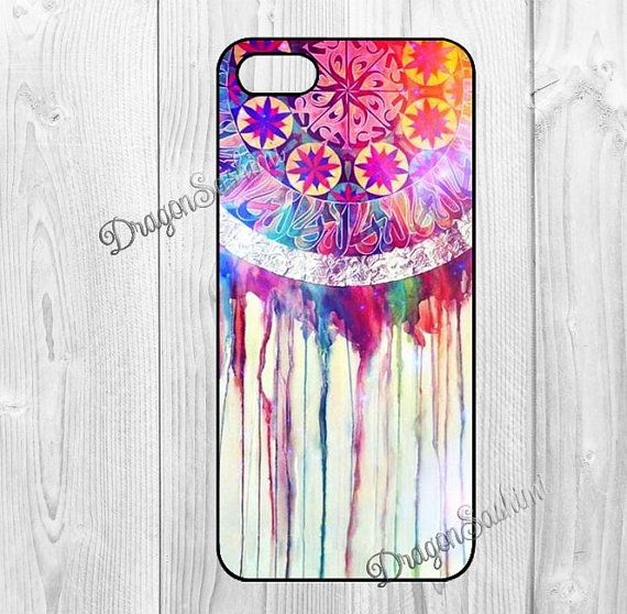 Dream- iphone 5 case iphone 5s case iphone 5c case Hard plastic Soft rubber iphone 5 5s 5c cover Dream Catcher on Etsy, $7.90