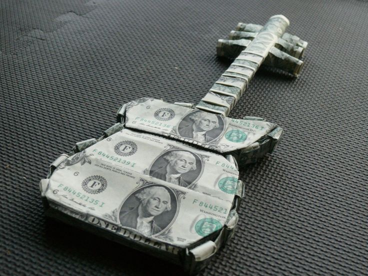 Money Origami Guitar