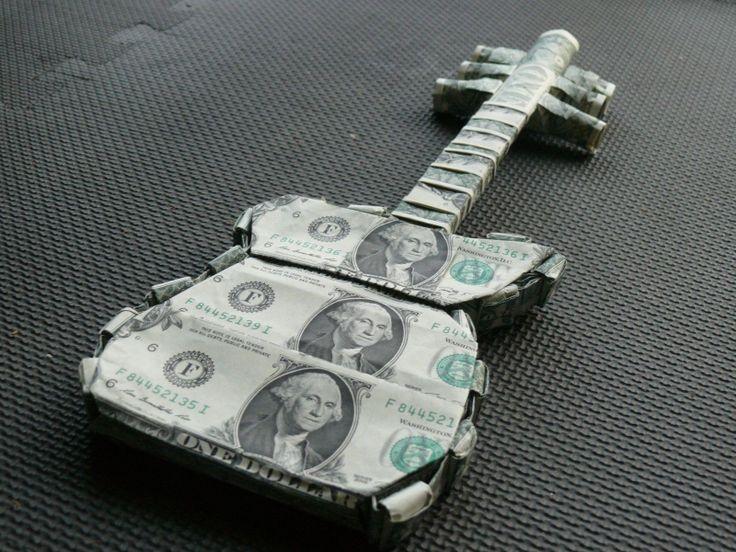 Money Origami Guitar
