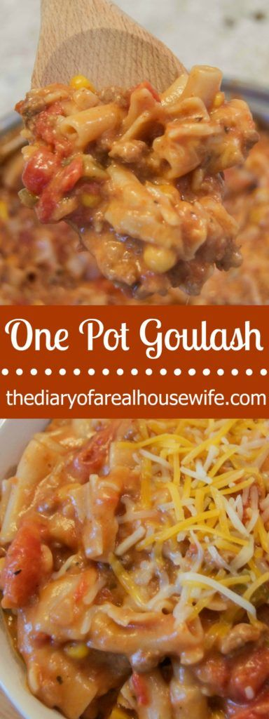 My family LOVES american goulash! This time I added a few different things and added it to one pot for an easy dinner!