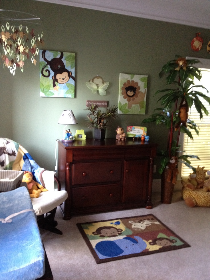 Nursery I decorated in a jungle theme