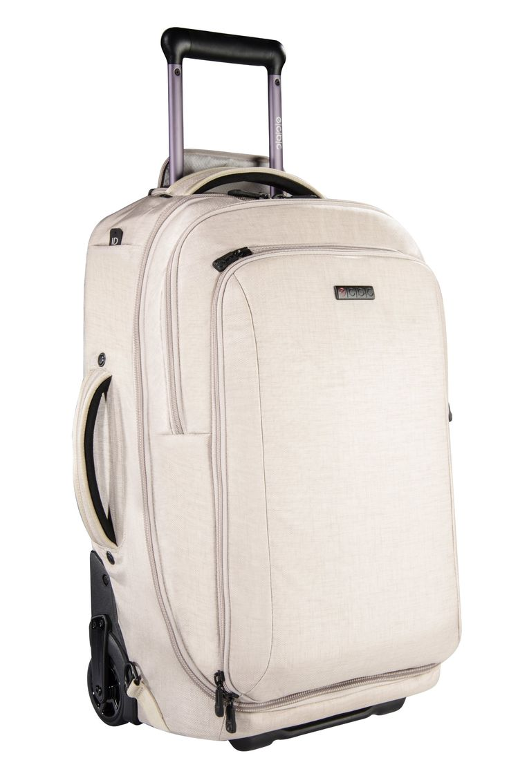 ecbc pegasus convertible wheeled backpack and laptop bag linen mah powerbank battery fits laptops u0026 devices up to 15