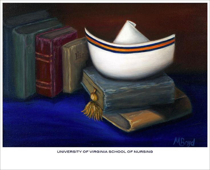 Nurse Painting - University Of Virginia School Of Nursing by Marlyn Boyd - Description -  The nursing program was founded in 1901 and has one of the few dedicated centers for the study of nursing history in the United States.