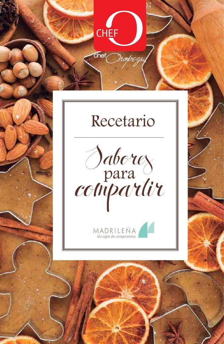 Recetario Sabores para compartir. Disfruta compartiendo deliciosas recetas con sabor navideño