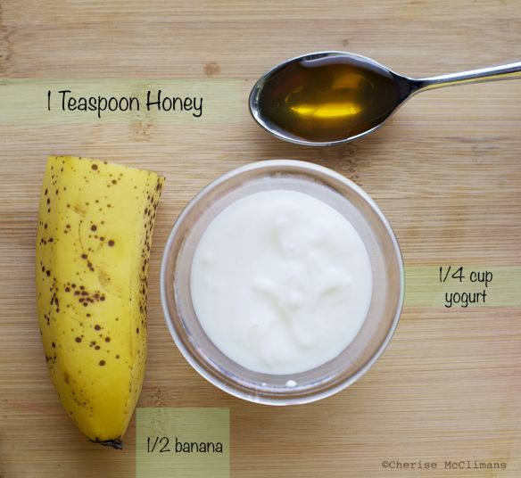 "Anti ageing better than Botox 1/2 banana 1/4 cup of yogurt 1 teaspoon of honey Mash the banana with a fork or spoon or your hands, mix in the yogurt and honey, put it on your face and sit back and relax for 15 minutes. For additional ""soak it in"" benefits place a warm washcloth over your face, then rinse it off. Your skin will feel softer, smoother and it helps to reduce wrinkles in your skin. Enjoy looking younger!"