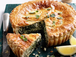 Spinach & Ricotta Pie - I am probably the only one in the family who will eat this...