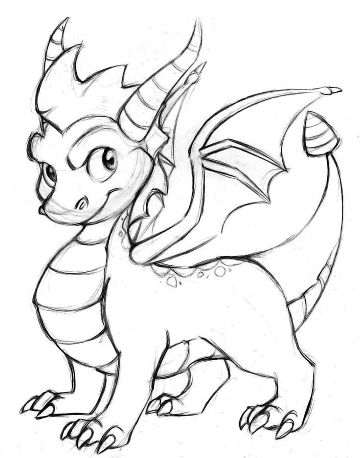мультяшные драконы картинки для рисования потом гулять