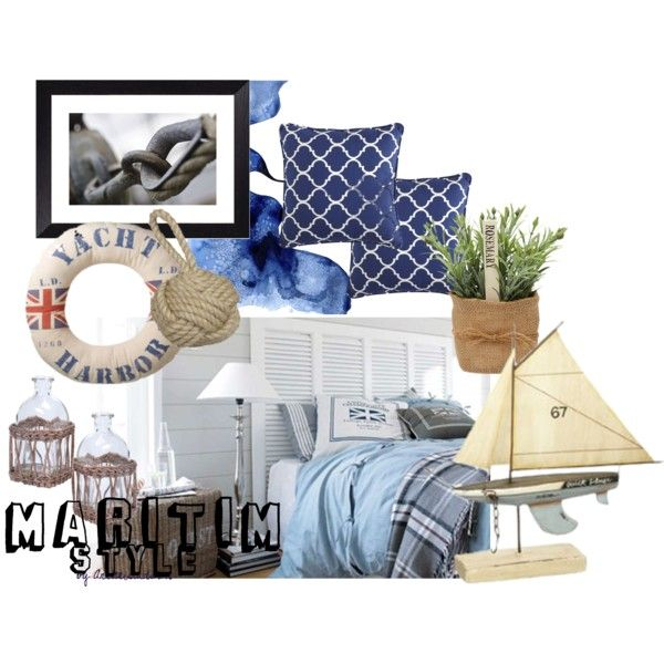 Maritim style by fargerertingen on Polyvore featuring interior, interiors, interior design, home, home decor, interior decorating, Pier 1 Imports, Summer, Inspired and sea