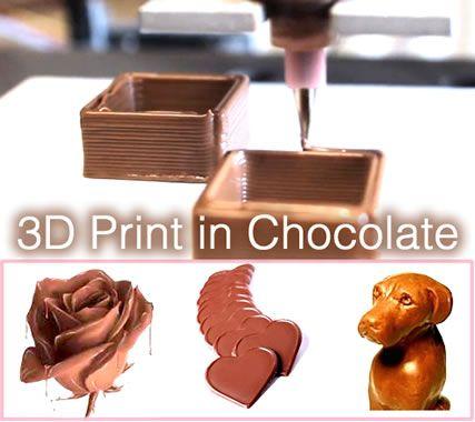3D Printer ile çikolatalar sadece sevgiliniz için   olabilir.