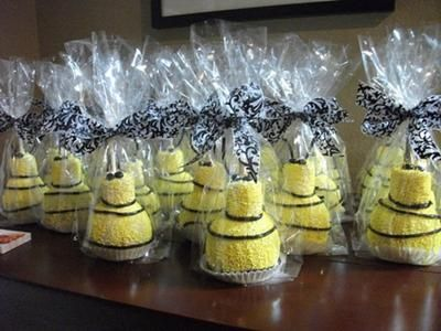 Bee Shaped Caramel Apple Shower Favors