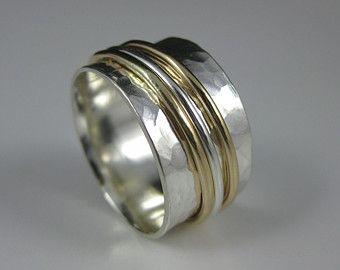 drievoudige gemengde metalen spinner ring door formandfunktion