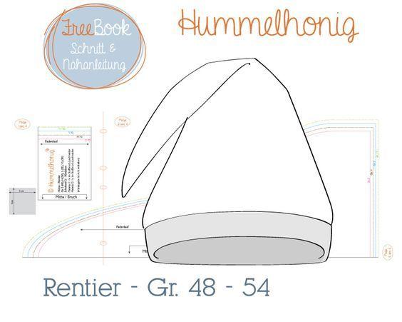 Freebook Zipfelmütze Rentier (Gr. 48-54)