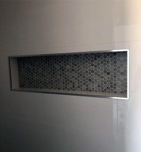 Hexagon Shelves Decor Bathroom