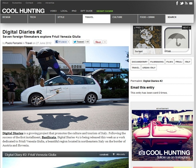 Digital Diary On Cool Hunting