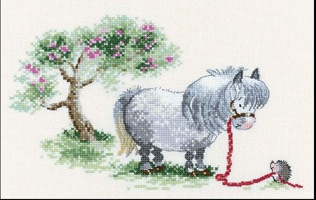 Thelwell pony #1 counted cross stitch aa
