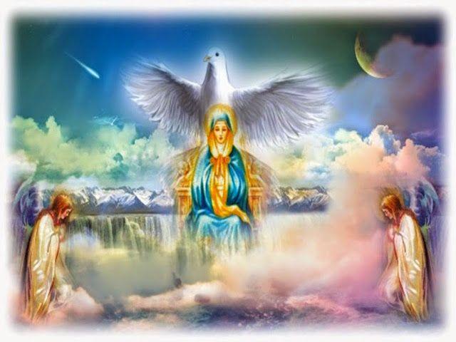JEZUS en MARIA Groep.://De Geest van God wil de Schepping terugvoeren naar haar oorspronkelijke staat van heiligheid, en wil dit doen via Maria, die als Koningin en Meesteres van alle zielen de mensheid in het Vuur van de ware heiligheid aan God zal teruggeven. Zij zal de duisternis onder Haar voeten vertrappen, omdat Haar heiligheid de belichaming en voorafbeelding van Gods storm van Vuur is. In Haar ziel en Haar Hart is de Vonk der heiligheid in de volkomen versmelting met de Wil van God…