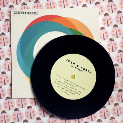 12 best Vinyl Wedding Invites images on Pinterest Wedding