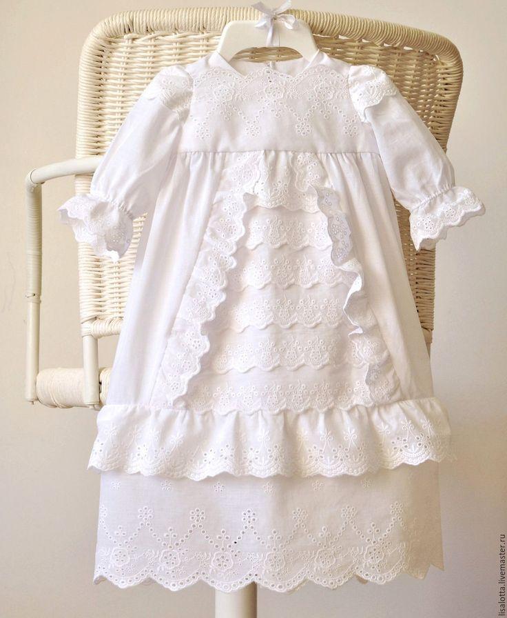 Купить Крестильное платье. Наряд для крещения - однотонный, крестильное платье, крестильная рубашка, наряд для крещения