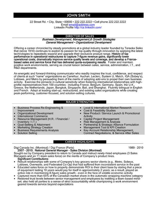 click here to download this director of sales resume template httpwww - It Sales Resume