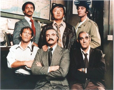 Tonight 1-22 in 1975, ABC debuted their new series - Barney Miller -- it ran from 1975-1982 -- this is part of  the 1975 cast -- top l-r Ron Glass, Jack Soo, Gregory Sierra, bottom l-r Max Gill, Hal Linden and Abe Vigoda - Loved it!