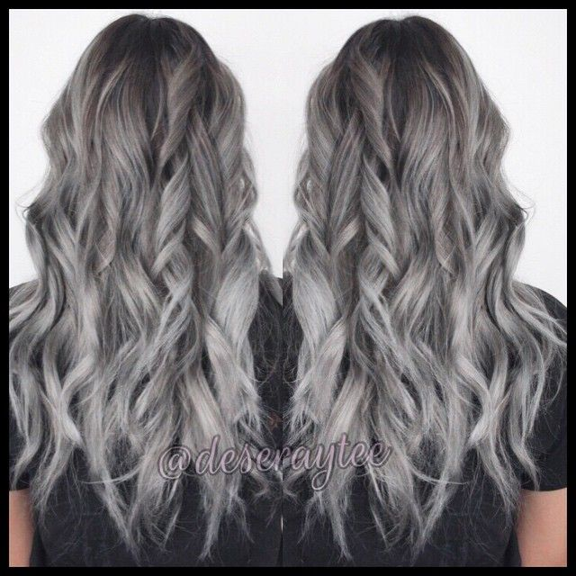 10 Images About Grey Balayage On Pinterest Grey Ombre