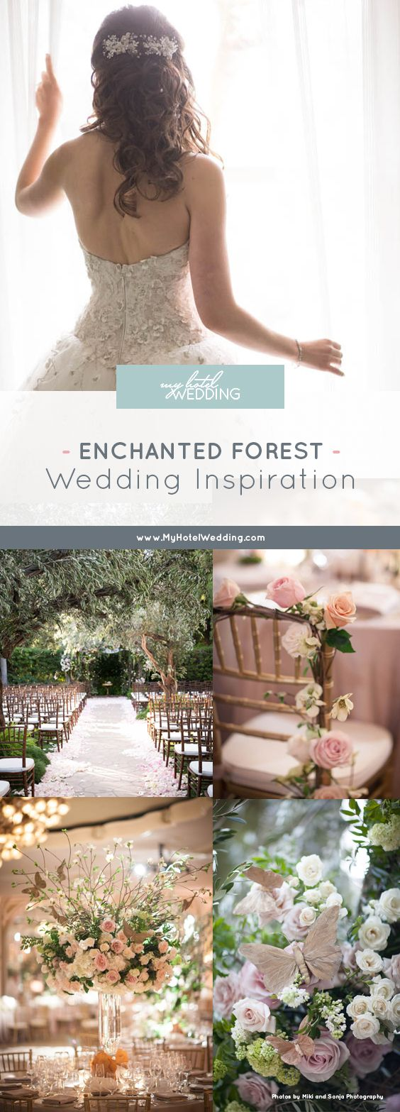 We can't get enough of this impossibly romantic and timeless enchanted forest wedding at The Beverly Hills Hotel in Los Angeles | luxury hotel wedding venues in Southern California (Miki and Sonja Photography)
