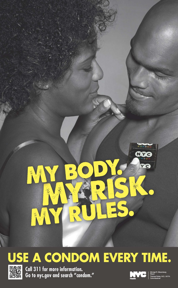 "NYC Health ""My Body, My Risk, My Rules"" condom use and HIV ..."