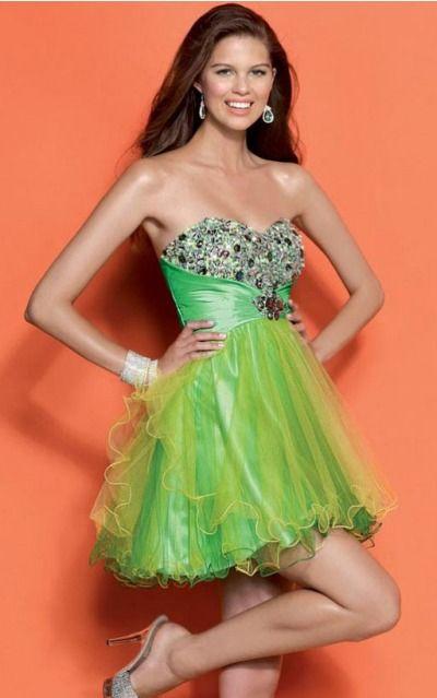 Sleeveless Sweetheart Zipper Tulle Short Formal Dresses zwh122