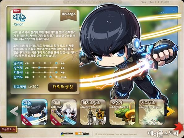 The developer of the Pocket MapleStory (the mobile version of MapleStory) Nexon, added a new character named Xenon, which  is an artificial human created by an evil scientist who joins the rebel army. More info and video on https://xtremetop300.com/forum/games-news/9/