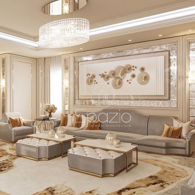 تصاميم داخلية لغرف المعيشة تصاميم The Design Is Created By A Designer Of Sp Luxury Living Room Decor Luxury House Interior Design Luxury Living Room Design