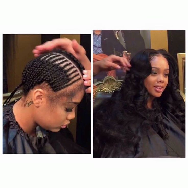 Middle part sew-in