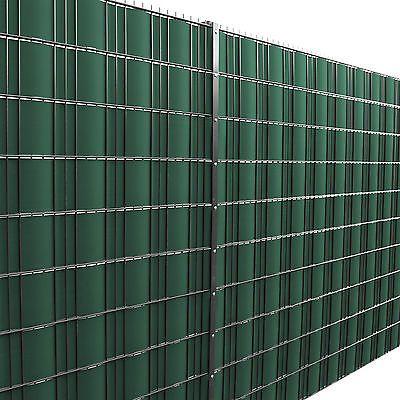 [neu.haus]® 35m Sichtschutz Zaunfolie Grün PVC Windschutz Doppelstabmatten Zaun